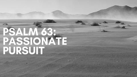 Psalm 63: Passionate Pursuit